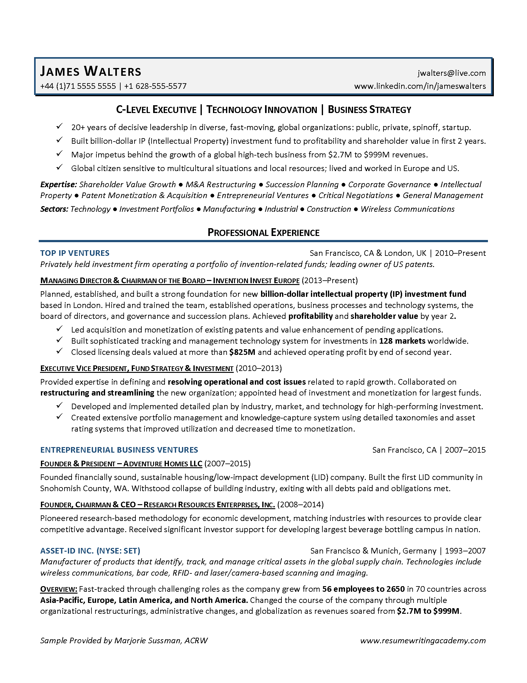 Resume Writing Academy - 3 Strategies for Executive Resumes